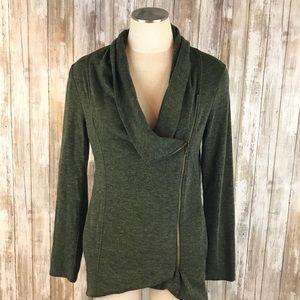 [Modcloth] Sweet Rain Side Zipper Sweatshirt Sz. L